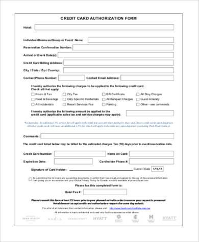 Sample Generic Authorization Forms   Free Documents In Pdf
