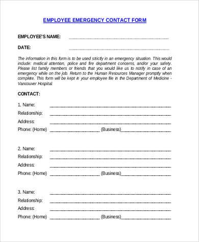 generic employee emergency contact form1