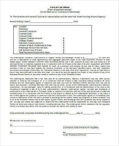 generic lien waiver form1