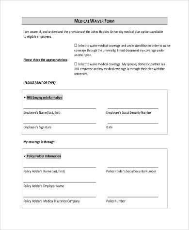generic medical waiver form3