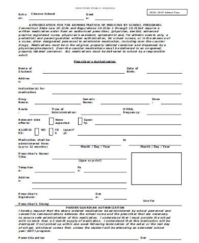 generic medication authorization form