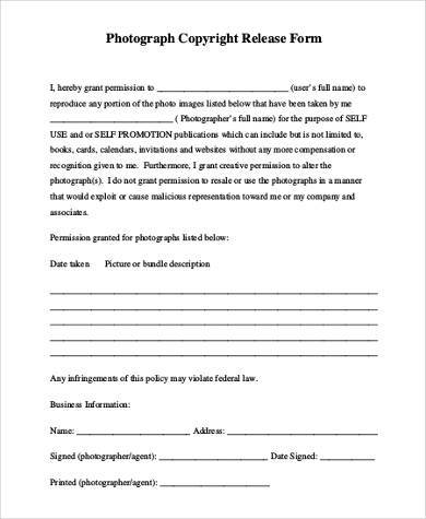 generic photo copyright release form1