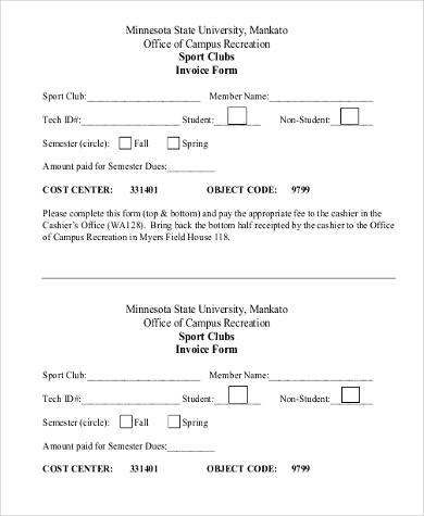 generic printable invoice