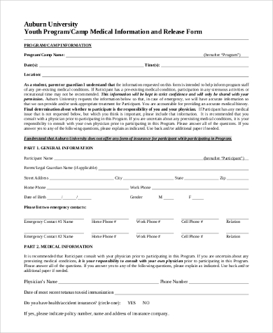 Release Of Medical Information Form - 7+ Free Documents In Word, Pdf