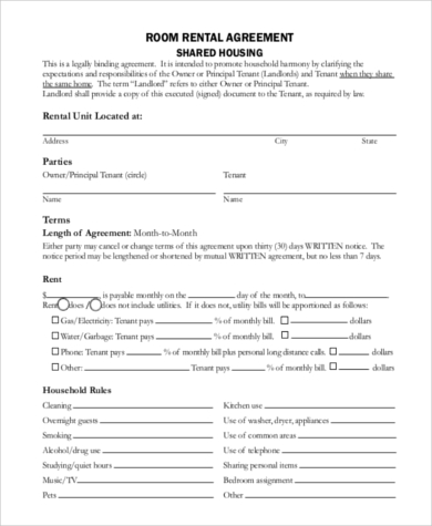 Sample Generic Rental Agreement - 9+ Free Documents in Word, PDF
