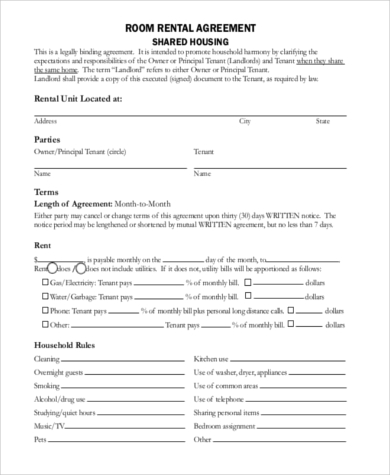 Sample Generic Rental Agreement - 9+ Free Documents In Word, Pdf