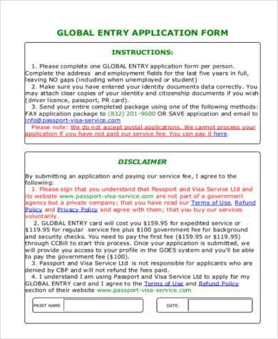 Global Entry Application Fee — David Dror