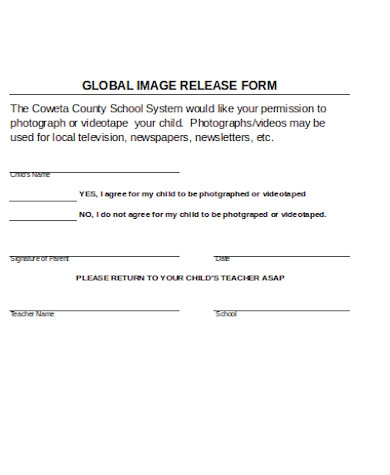 global image release form