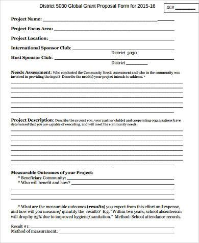 grant proposal form in pdf