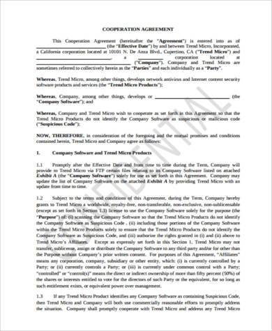 grid cooperation agreement form