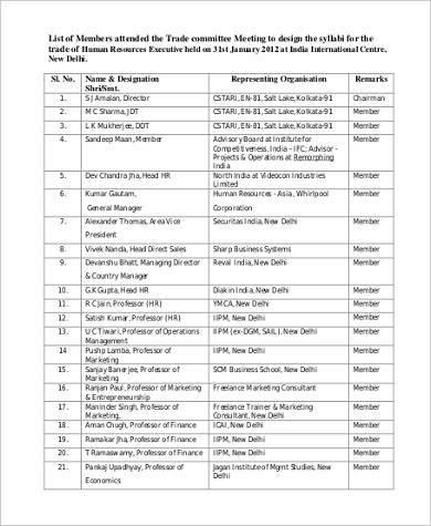 hr executive appraisal form