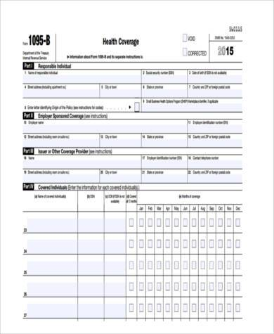health care coverage tax form