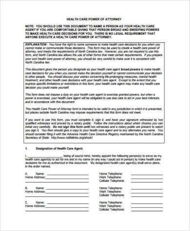 health care power of attorney form1