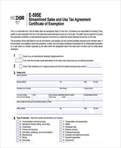 health care tax exemption form