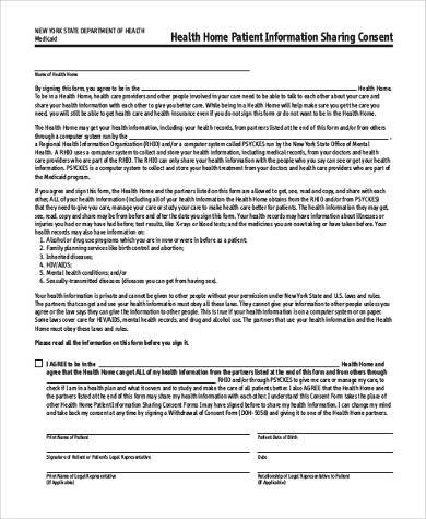 health survey consent form