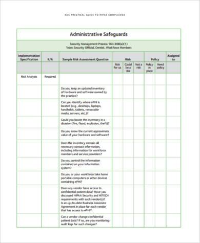 Sample Security Risk Assessment Forms - 7+ Free Documents In Word, Pdf