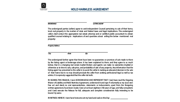 Free 8 Hold Harmless Agreement Forms In Pdf Word
