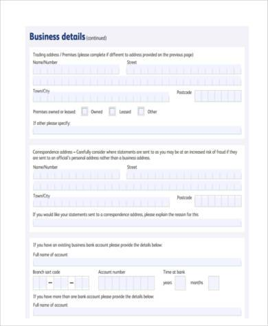 home business accounting form