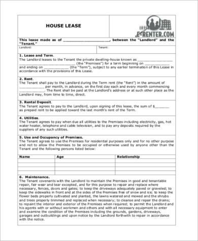 Sample Home Rental Agreement Form - 10+ Free Documents In Word, Pdf