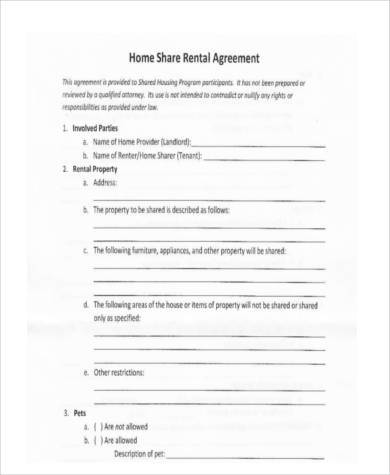 Sample Rental Agreement Formats   Free Documents In Word Pdf