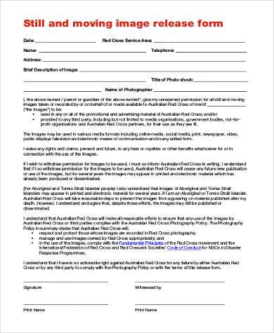 image rights release form