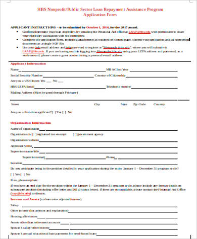 Sample Income Based Repayment Form   Free Documents In Word Pdf