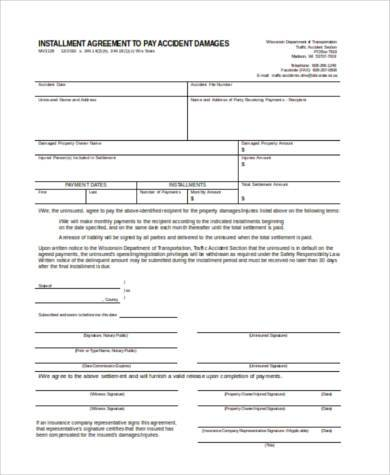 installment agreement form in word format1
