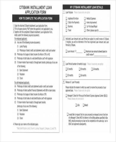 installment loan contract form