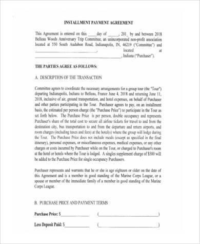 installment payment agreement form1