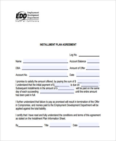 Sample Payment Contract Forms   Free Documents In Pdf