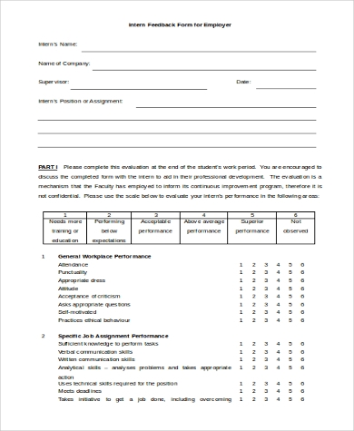 Feedback Form Samples   Free Documents In Word Pdf