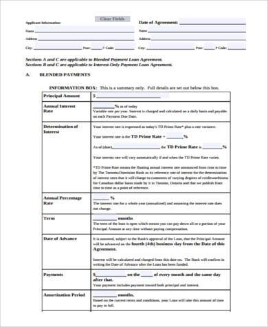 investment loan agreement form1