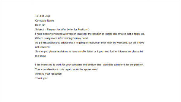 thank you for a job offer