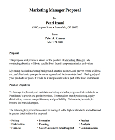 Job Proposal Sample - 8+ Free Documents in Word, PDF