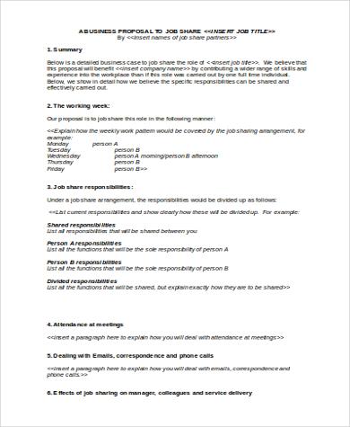 job share proposal