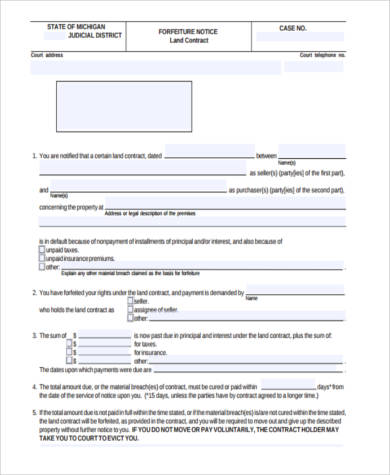 land contract payment schedule form