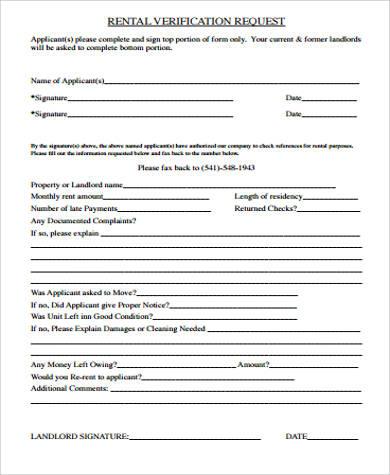 landlord rental verification form1