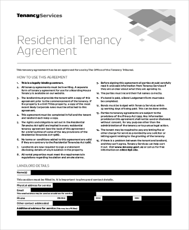 Landlord Tenant Agreement Form