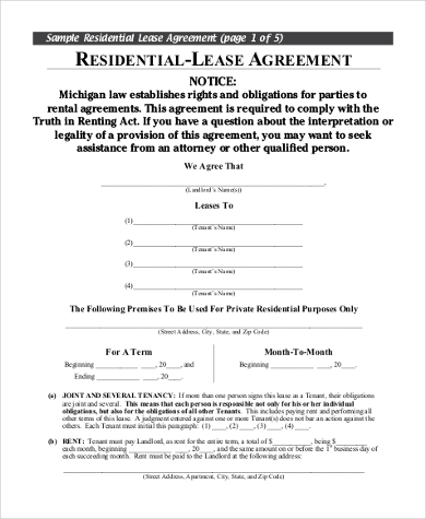 landlord tenant agreement to terminate lease1