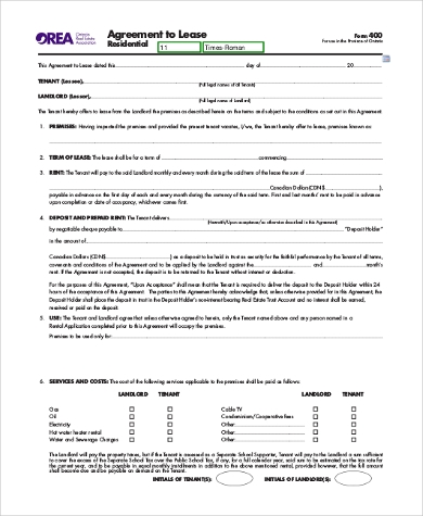 lease agreement application form