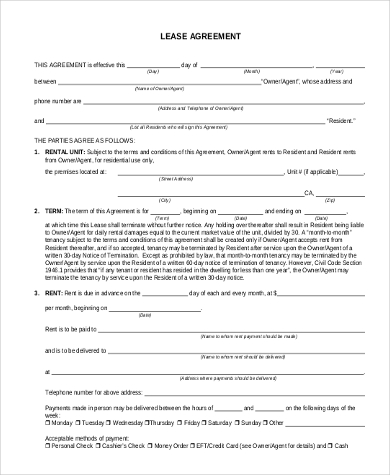 lease agreement form1
