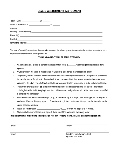 Lease Form Sample - 9+ Free Documents In Word, Pdf