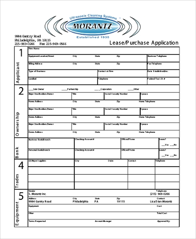 lease purchase application form