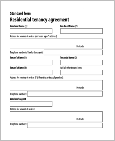 Sample Lease Rental Agreement Form   Free Documents In Word Pdf