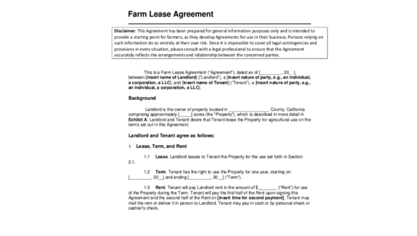 Lease Forms Sample 9 Free Documents In Word Pdf