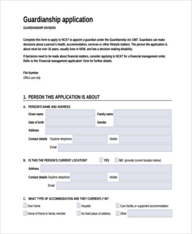 legal guardianship application form1