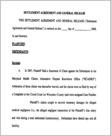 legal malpractice release form