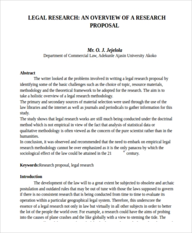 Sample Research Proposal - 8+ Free Documents In Word, Pdf