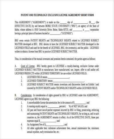 license agreement short form1