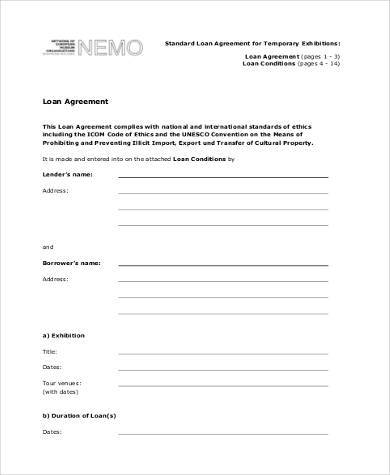 loan agreement blank form